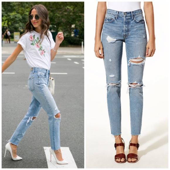 44558477011 GRLFRND Karolina High Rise Jeans Little More Love